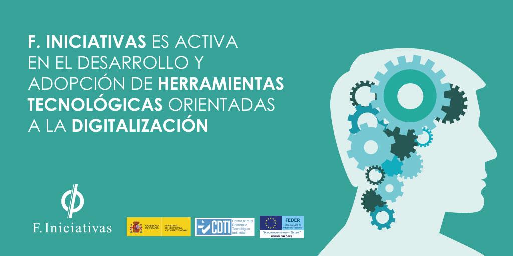 F. Iniciativas es activa en el desarrollo y adopción de herramientas tecnológicas orientadas a la digitalización